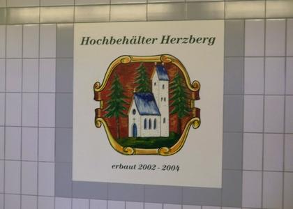 Hochbehälter Herzberg der Gemeindewerke