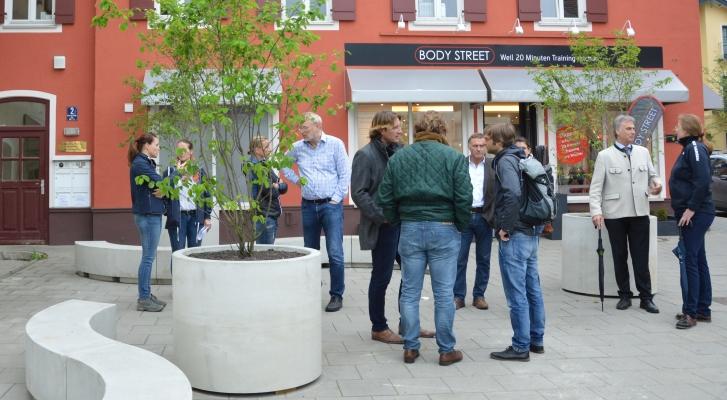Oskar-von-Miller-Platz. Vor-Ort-Termin am 04.05.2018. Credit: Markt Holzkirchen