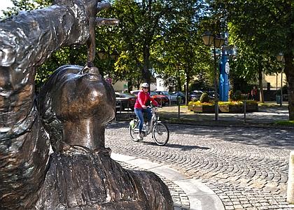 Radfahren am Marktplatz