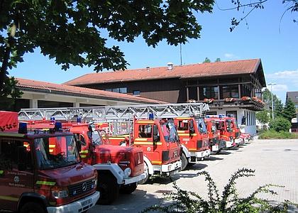 Das Feuerwehr-Gerätehaus in Holzkirchen