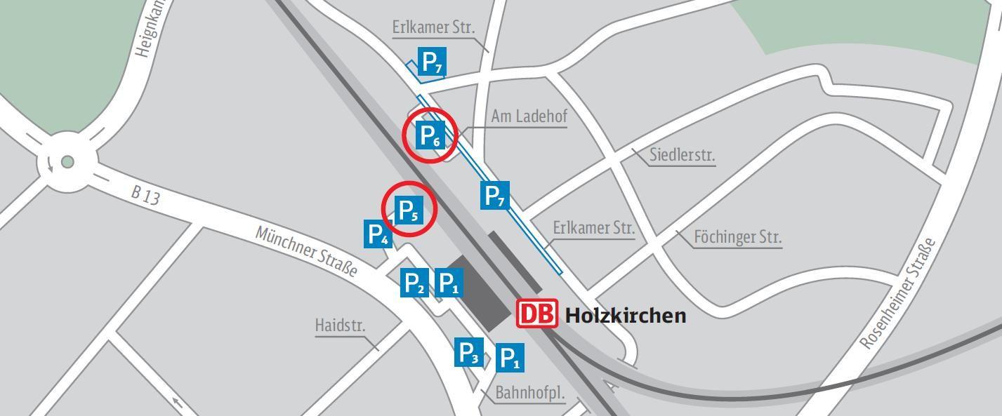 Lageplan Parkbereiche Bahnhof