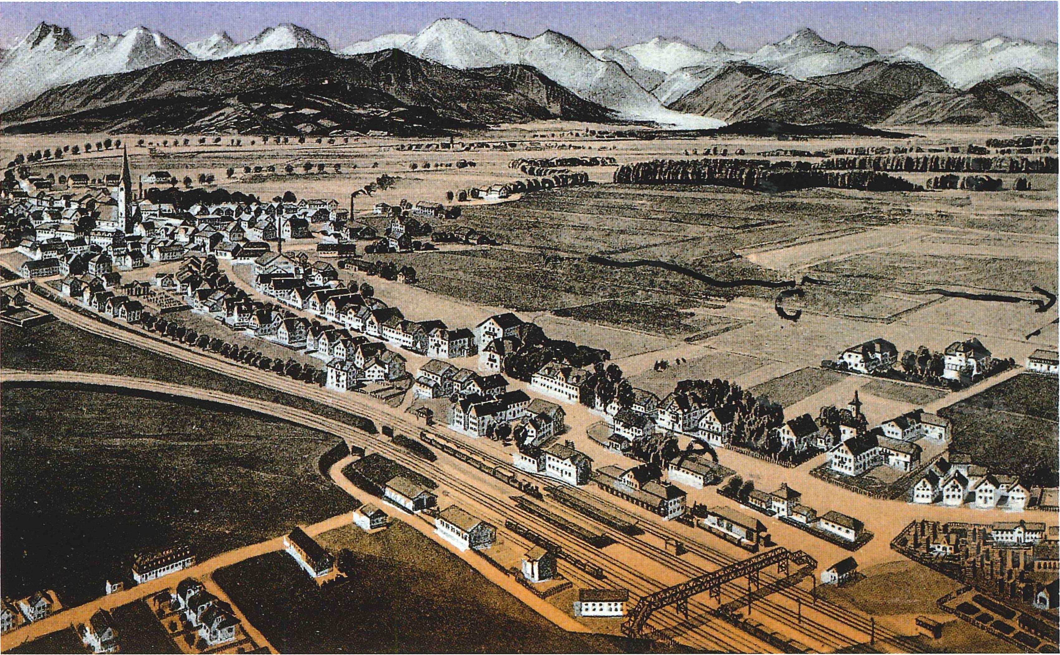 Holzkirchen auf dieser Postkarte von 1890