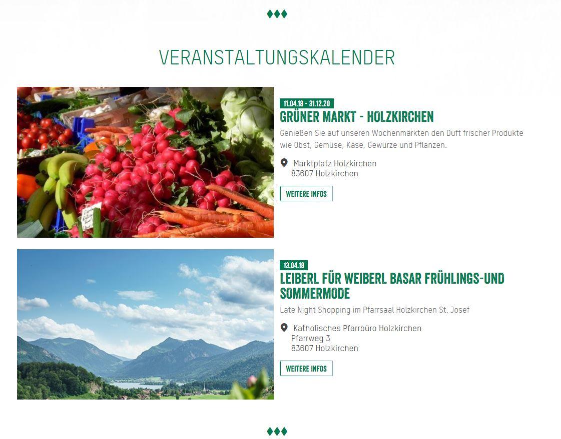 Veranstaltungskalender Tourismusverband Alpenregion Tegernsee Schliersee KU