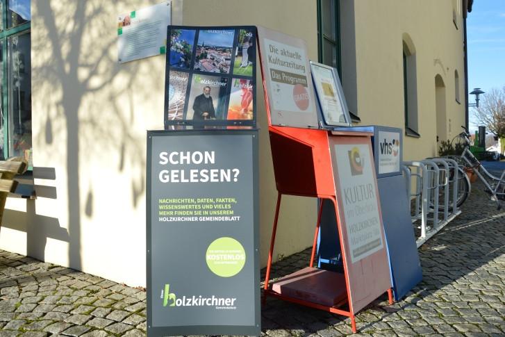Zeitungskästen. Credit: Markt Holzkirchen