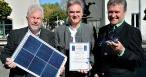 Übergabe des Solarpreises