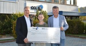 Spendenübergabe der CCL Label GmbH