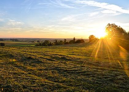 Sonnenuntergang bei_Holzkirchen