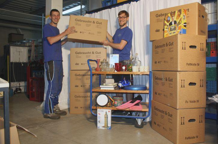 VIVO-Mitarbeiter am Wertstoffhof Warngau