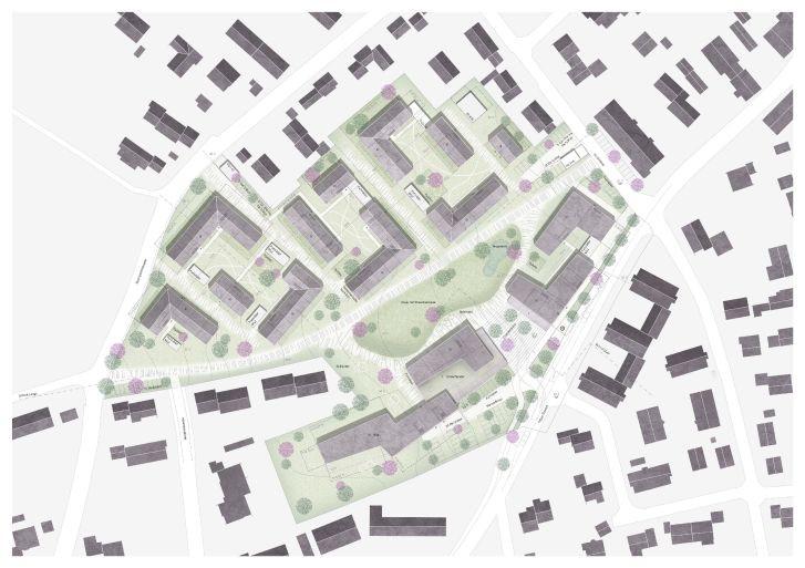 Preisverleihung Städtebaul.Wettbewerb Lageplan