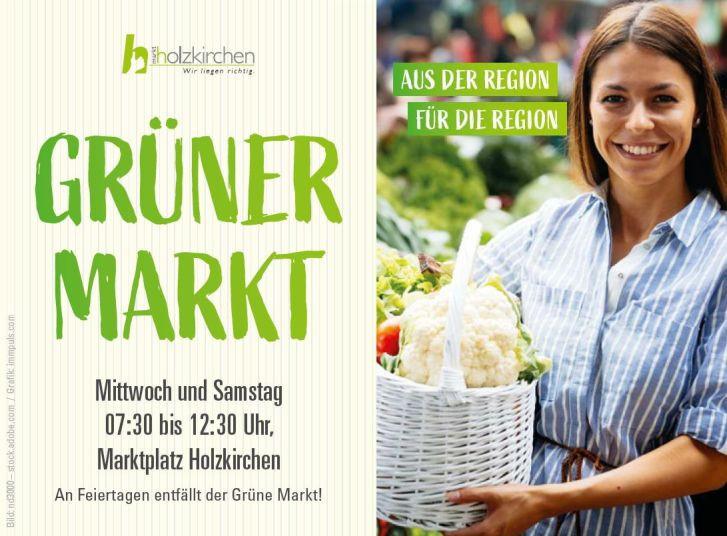 Grüner Markt Anzeige