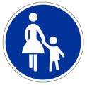 Gehweg Schild