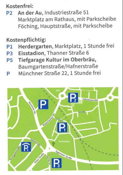 Parkplätze im Gemeindegebiet