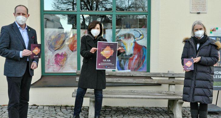 Präsentation Kunst im Schaufenster